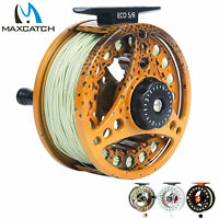 Maxcatch ECO Fly Fishing Reel with Pre-Loaded Fly Line, Backing,Leader(3wt-8wt)