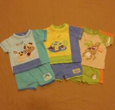 Rare ~Taggies Baby Boy (Lot Of 3) Short Sets~ Size 3-6 Months
