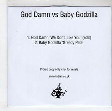 (GN156) God Damn vs Baby Godzilla, We Don't Like You / Greedy Pete - DJ CD