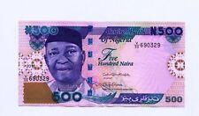 NIGERIA 500 Naira  2017  UNC   P NEW