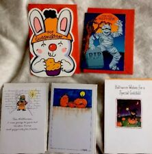 Vintage Assorted Halloween Child's Hallmark Greeting 5 Cards New!