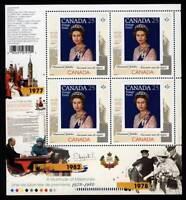 QUEEN Elizabeth ll Diamond Jubilee 3/6 MiniSheet of 4 CANADA 2012 MNH 2515i