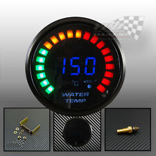 "LED Digital Agua Temp ahumado cara calibre 2"" 52mm Universal Con Sensor"