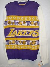 NBA NWT WORDMARK UGLY SWEATER - LOS ANGELES LAKERS - X-LARGE