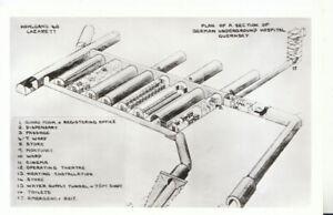 Channel Islands Postcard - Guernsey - Plan of German Underground Hospital TZ7470