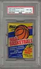 1988 FLEER BASKETBALL WAX PACK MICHAEL JORDAN STICKER BACK PSA 8 NM-MT