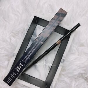 Smashbox Brow Tech Matte Pencil - Taupe thin eyebrow pencil with spoolie New