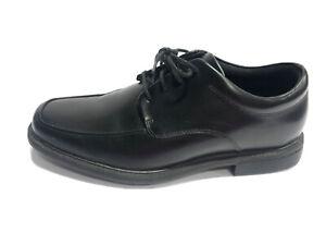 Rockport, Men's Evander Moc Toe Black Leather Dress Shoes, Size 9.5 X-Wide