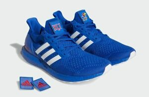 New Adidas UltraBoost Shoes Primeknit Boost Kansas Jayhawks 8 Royal Blue-White