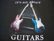It's all about Guitars Guitar Player Music Fan Band Electric Acoustic T Shirt L