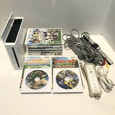 Nintendo Wii Video Game Console Bundle with 9 Wii Games