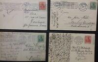 Germany 4 1900 's  Postcards Postkarte Ulm Dusseldorf Hamburg Hannover