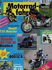 Motorradfahrer 9/96 1996 Ducati Monster 750 KTM 400 LC 4 Troll TRX Suzuki DR 650