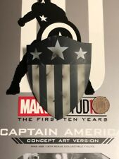 Hot Toys Captain America Concept Art MMS488 Old Shape Shield loose 1/6th scale