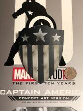 Hot Toys Captain America Concept Art MMS488 Ancien Forme Bouclier Lâche échelle 1/6th