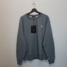 New Acne Studios Fairview Face Smiley Crewneck Grey Sweatshirt Size M