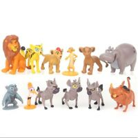 12Pcs/Set The Lion King Simba Action Figure Kids Gift Cake Topper Toy Collection