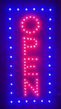 TopRated Led Neon Light Vertical OPEN w/ Motion Animation ON/OFF switch Sign R10