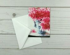 Greeting Note Cards Teapot Flowers Floral 8 Count Blank