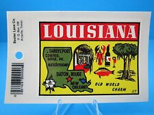 "VINTAGE...""LOUISIANA STATE""   STICKER / DECAL   (WOW... NEW OLD STOCK !)   L@@K"