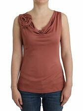 NWT $200 JOHN GALLIANO Pink Top Sleeveless Blouse Floral T-Shirt Blouse XXS/US 2