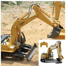 RC Excavator Crawler Tractor Toy Metal Digger and Bulldoze Truck Remote Control