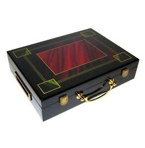 Hi-Gloss Wooden 300 Chip Poker Case (Rectangle Design)