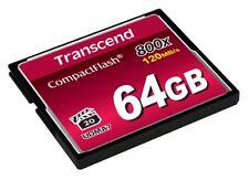 Tarjeta de memoria de 64GB Transcend 800 X CompactFlash 120 MB/seg.
