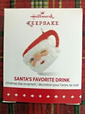 Hallmark Keepsake Ornament MINIATURE SANTA'S FAVORITE DRINK  NIB