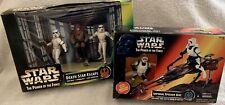 STAR WARS TPOTF Imperial Speeder Bike w/ Stormtrooper & TPOTF Death Star Escape