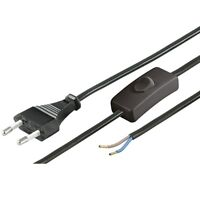 1,5m Stromkabel Strom Kabel Draht mit Schalter schwarz für z.B Lampen