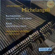ASD 255 Rachmaninov / Ravel Piano Concertos / Michelangeli S/C