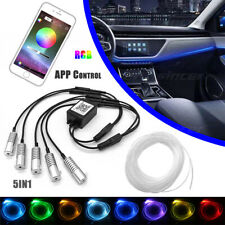 5 in 1 LED RGB Auto Lichtleiste Ambientebeleuchtung Innenraumbeleuchtung Set APP
