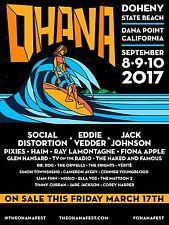 Ohana 2017 Konzert Poster: Social Distortion, EDDIE VEDDER, Jack Johnson, Pixies