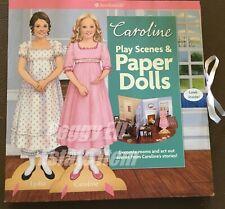 "2012 AMERICAN GIRL ""CAROLINE PLAY SCENES & PAPER DOLLS"" RETIRED IN 2014"