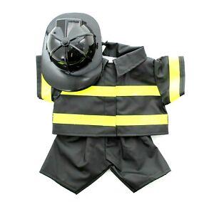 Build-A-Bear Workshop Fireman Fire Fighter Uniform Teddy Bear Outfit 022351