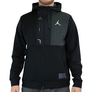 Nike Jordan Air Zip Hoodie Jacke Kapuzenpullover Herren Schwarz CV2328 010