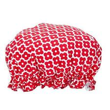 Shower Bath Cap Hat for Hair Red Flower Design by Annabel Trends - New