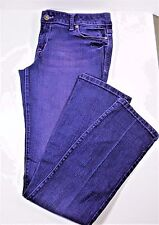 Taylor dELIA*s Womens Junior 11/12 R  Purple Jeans Distressed Low Rise Stretch