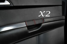 RED STITCH FITS VOLVO S40 & V50 2004-2013 2X REAR DOOR HANDLE LEATHER COVERS
