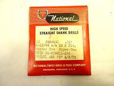 """Twist Drill Bits, #26 (.147"""") 12 pcs, Heavy Duty HSS Super-Tem Split Point, NEW."""