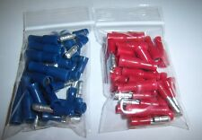 (60) Male & Female Car Audio Quick Disconnect Wire Bullet Connector Red & Blue