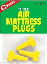 AIR MATTRESS PLUGS PACK OF 3 - IMPORTANT WHEN YOU NEED ONE TO SLEEP