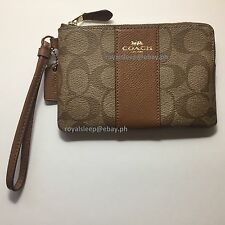 COACH Crossgrain Leather Corner Zip Wristlet **Brand New with Tag** Wallet