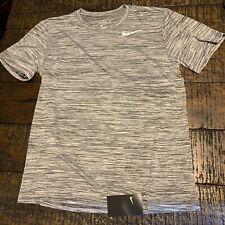 43ae3e0a Nike Legend Dry Velocity Short Sleeve Training Shirt AV3530 010 SZ L Black  White