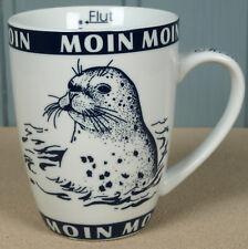 """Becher mit Seehund """"Moin Moin"""" Ebbe+Flut Inhalt 300ml Kaffeebecher Robbe (1252)"""