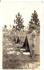 US Army Soldiers Mess Kitt Rifle Display Inspection Ready 1930s Photo Postcard