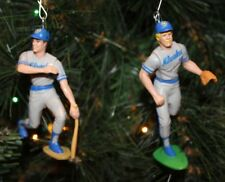 MILWAUKEE BREWERS CHRISTMAS ORNAMENT SET PAUL MOLITOR ROBIN YOUNT away jerseys