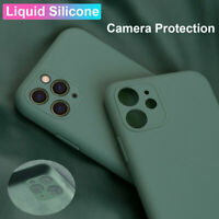 For iPhone 11 Pro XS Max X XR 8Plus Camera Protective Case Liquid Silicone Cover