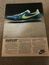 Vintage 1982 NIKE ELITE WAFFLE RUNNING SHOES Poster Print Ad 1980s RARE